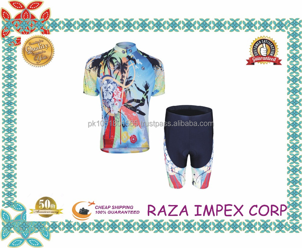 Sublimation custom cycling uniforms/short sleeve mountain cycling shirts /stylish bicycle tops