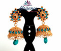 Wholesale South Indian jhumkas online-south Indian jhumki-Wholesale gold plated Jhumkas-Pakistani pearl jhumka earrings