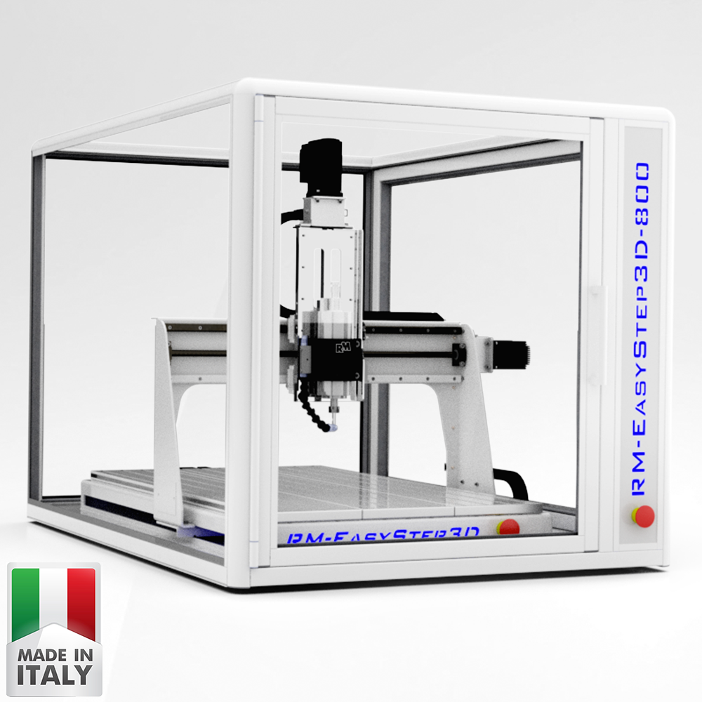 RM-EasyStep3D 800 | Mini Desktop CNC Router Machine for Milling, Cutting, Engraving.