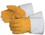 Tig Welding Gloves made of Goat Leather Cuff Cow Split Leather