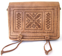 Best Quality Moroccan Handmade Genuine Leather Embossed Satchel Bag