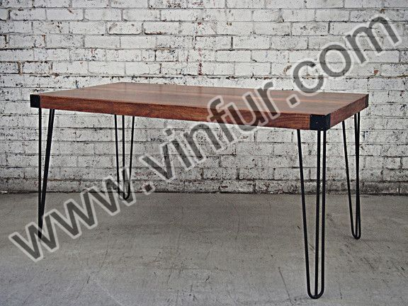 Iron Hair Pin Legs Dining Table