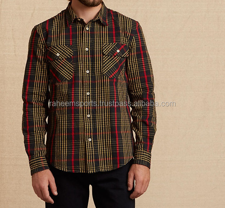 2016 the latest design 100% cotton check casual shirt for men