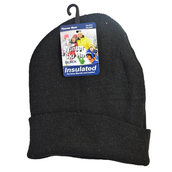 WINTER Beanie Ski Hat Black Only