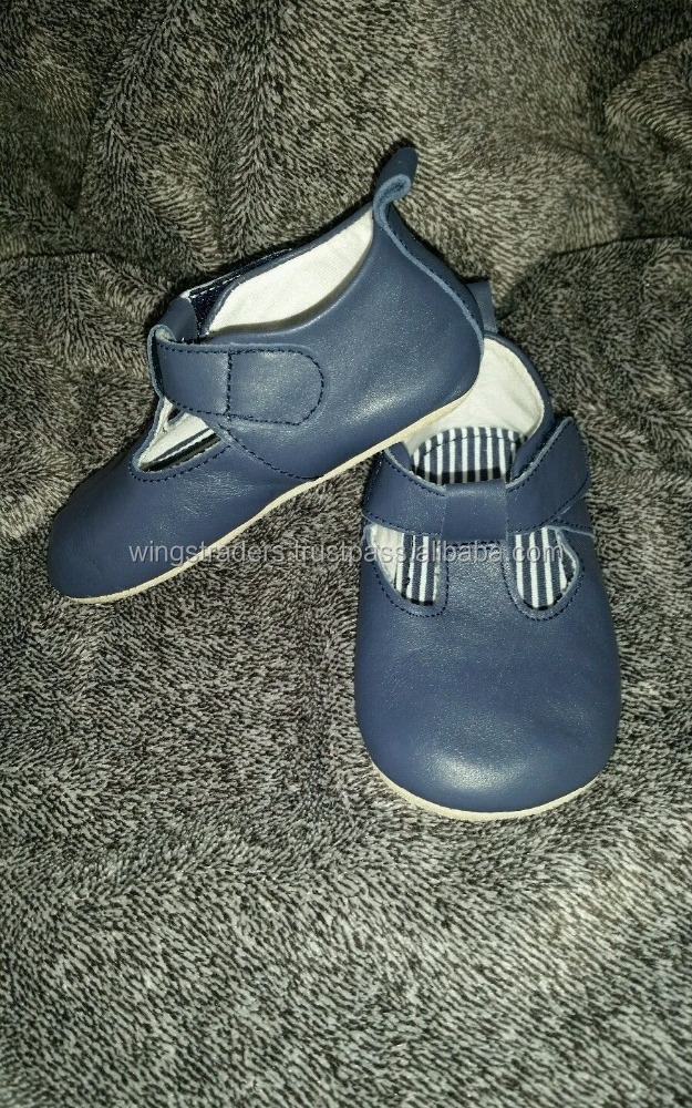 Beautiful soft leather navy shoes,Soft Sole Feels Baby Relax