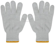 100% Cotton and Poly Cotton Seamless Industrial Safety Gloves 800 GM Oil and Gas Industry Gloves