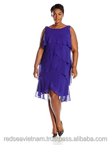 American Fashions Women's Plus-Size Tiered Cocktail Dressdress