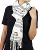 Store Indya Cotton Scarf Stole Wrap Hand Woven with Stripped Design Fashion for Women Long
