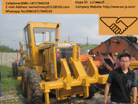 used america made cat 120G motor grader hot sale