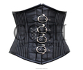 Underbust PINSTRIPE Cotton Steel Boned Waist Training Corset Ci-2002