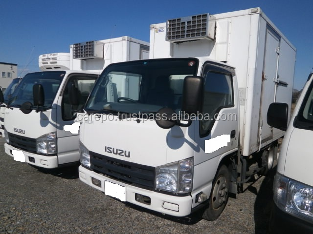 EXPORT FROM JAPAN SECOND HAND RIGHT HAND DRIVE CARS FOR ISUZU ELF TRUCK BKG-NKR85AN 2009 WITH REFRIGERATOR & FREEZER