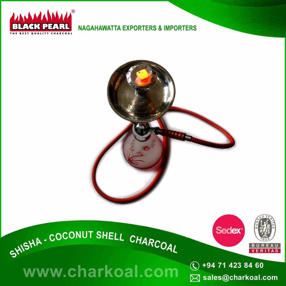 Coconut Shell Made Convenient Cube Shape Shisha Charcoal with Hygienic Packing