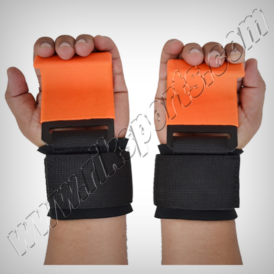 hooker Lifting Straps - Weight lifting metal hooks with coated material padded with neoprene on the wrist and nylon material