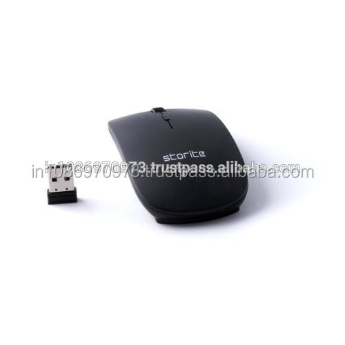 Buy Storite New Ultra Slim Wireless Mouse 2.4 GHz With Nano Receiver (Black) at Wholesale Rates in India