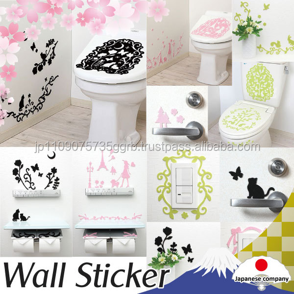Removable unique decorative wall stickers made in Japan