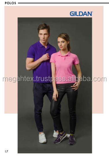 Premium Cotton Adult Double Pique Sport Polo T-Shirt with Collar