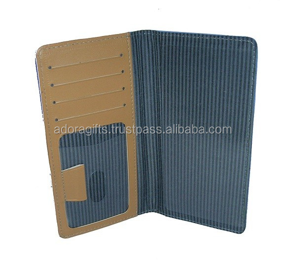 Promotional gifts from bank to its clients & customers - leather checkbook cover with pen and card holders