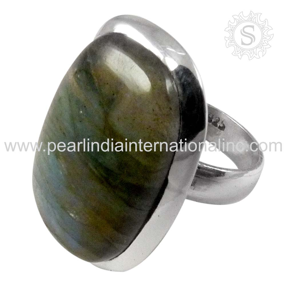 Expansive Labradorite 925 Silver Ring Wholesale Silver Jewellery Fine Jewellery