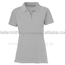 Fancy summer polo cotton t-shirts for womens