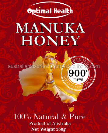Optimal Health 100% Pure Manuka Honey 250g Certified Natural MGO 900+