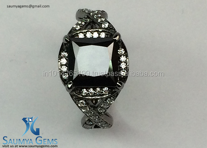 Fancy Black Moissanite Engagement Rings At Bottom Price ..