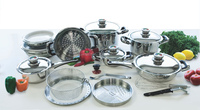 Nutri-Stahl 22pc Stainless Steel Waterless Cookware Set