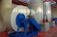 Wet scrubber industrial plant for gas/particulate matter/air pollutants/inorganic fumes/vapour/gases treatment