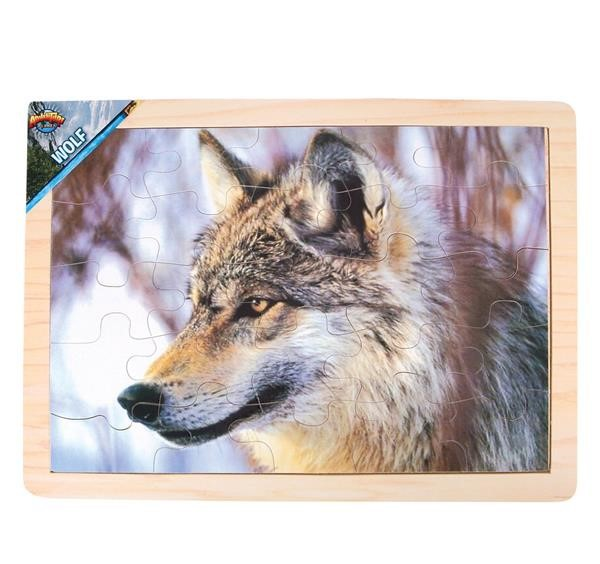 25 PC WOLF WOOD PUZZLE