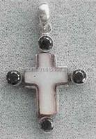 Cross silver and stone pendant,jesus cross pendant,cross new design pendant