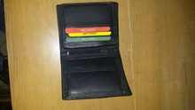 Bifold Wallet Men's Genuine Leather Credit/ID Card Holder Purse Fashion Black TRI-2035