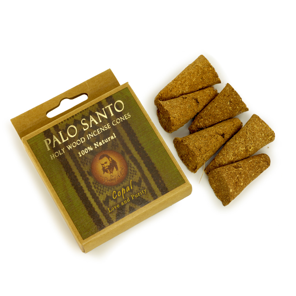 Palo Santo and Copal - Love & Purity - 6 Incense Cones - Export from NY, USA - FREE Samples - No minimum order - Made by Yogis