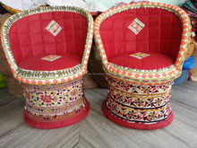 Handmade Vintage traditional~Maharaja Chair, Sofa, Poufs