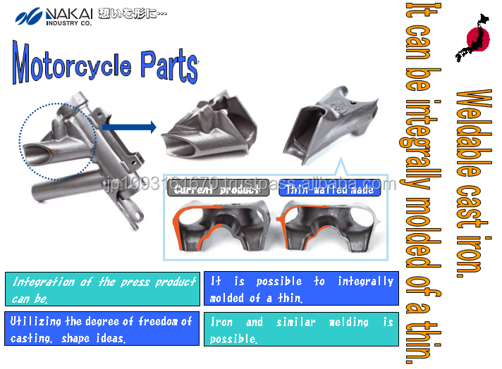 Motorcycle parts for 200 cc engine with high flexibility feature