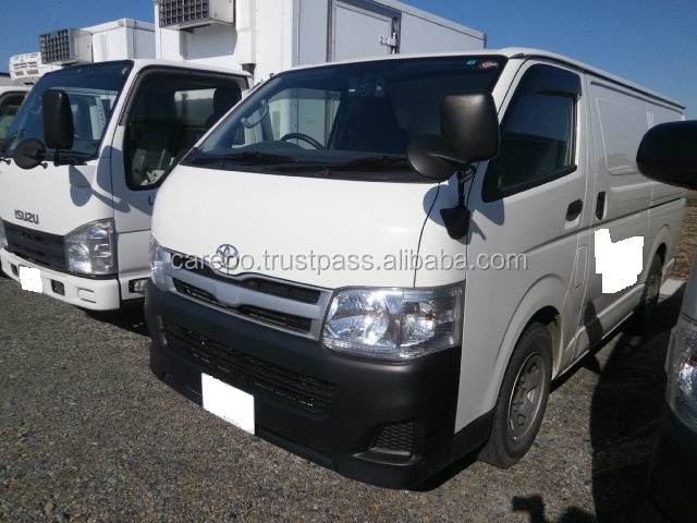 HIGH QUALITY USED VAN CAR TOYOTA HIACE 2013 WITH REFRIGERATOR & FREEZER (MODEL : QDF-KDH201V, ENGINE : 1KD)