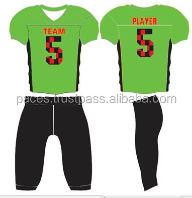 African American Football Player in Green Uniform Christmas tounament