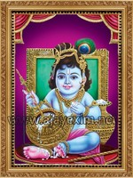 Lord Krishna - Tanjore Paintings Poster