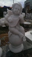 outdoor garden kid boy angel statue
