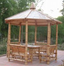 Natural bamboo gazebo & bamboo furniture - cheap price