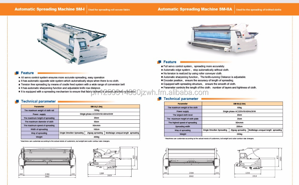 Automatic Spreader Machine for Knits, Woven, Textile, Jeans and Clothing