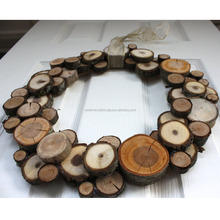 New Design!!! Christmas Natural Wooden Slice Decorated Wreaths, Outdoor Christmas Decoration, Chirstmas Hanging Wall