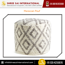 Supreme Quality Highly Durable Moroccan Pouf Available for Bulk Buyers