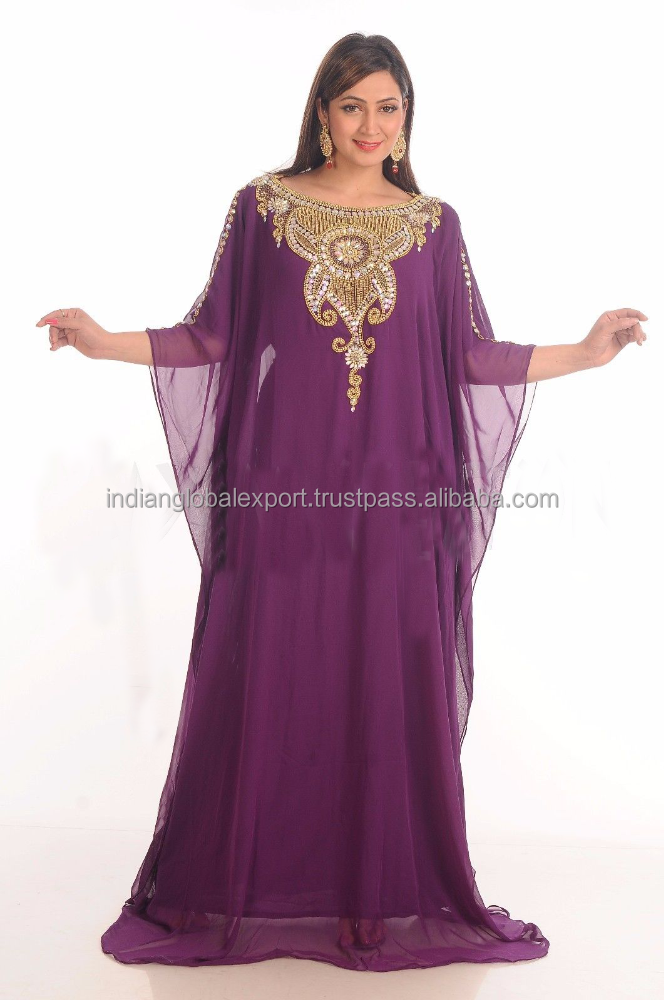 NEW MODERN EXCLUSIVE KAFTAN JILBAB THOBE WEDDING GOWN FANCY ARABIAN DRESS
