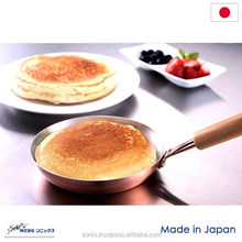 Copper pan , for making pancakes soft and fluffy , size 16cm x 31cm x 11cm