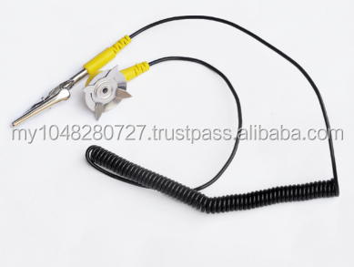 Anti-static mat grounding wire assembly electrically conductive wire cable clip L -type hand bags tablecloths discharge outlet g