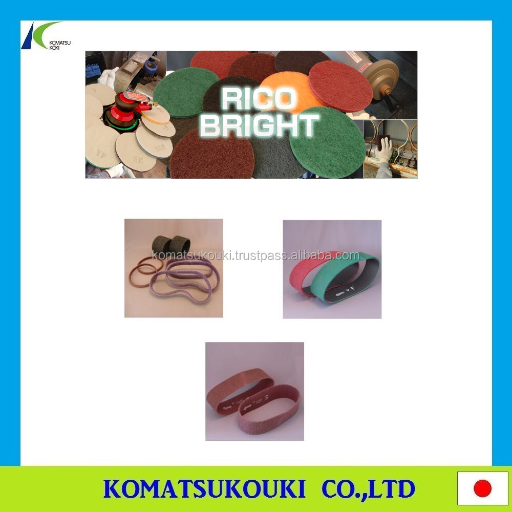 Innovative Japan Riken Corundum Ricoaz machinery abrasive sanding Belt for grinding with Eco-friendly