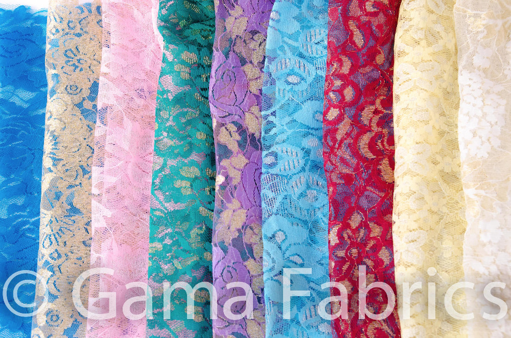 High quality raschel knitted fabric for dresses, underwear and other accessories