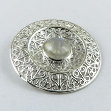 Just Glow !! AAA White Rainbow Moonstone 925 Sterling Silver Pendant, Silver Jewelry Wholesale U.S.A, Gemstone Pendants
