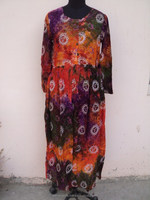 100% Viscose Tie & Dye Material Evening Dress / Halloween Costume Woman Long Maxi Dress & Gowns