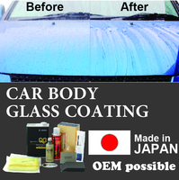 Development products car body glass coating with work easy made in Japan