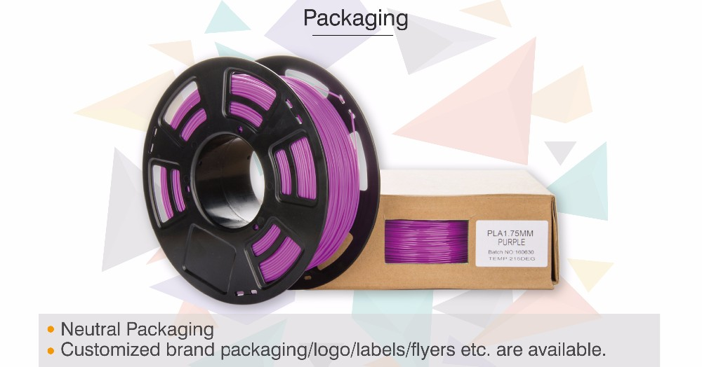 Competitive advantages 3d printing black pla filament 1.75mm